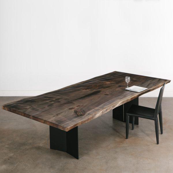 Custom live edge dining table for modern luxury home