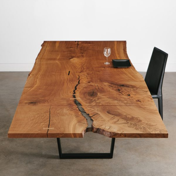 Live edge extendable dining table