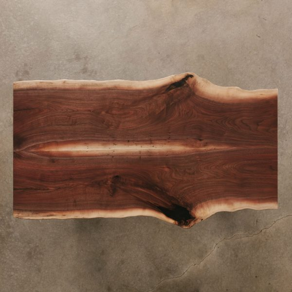Walnut bookmatch slab tabletop