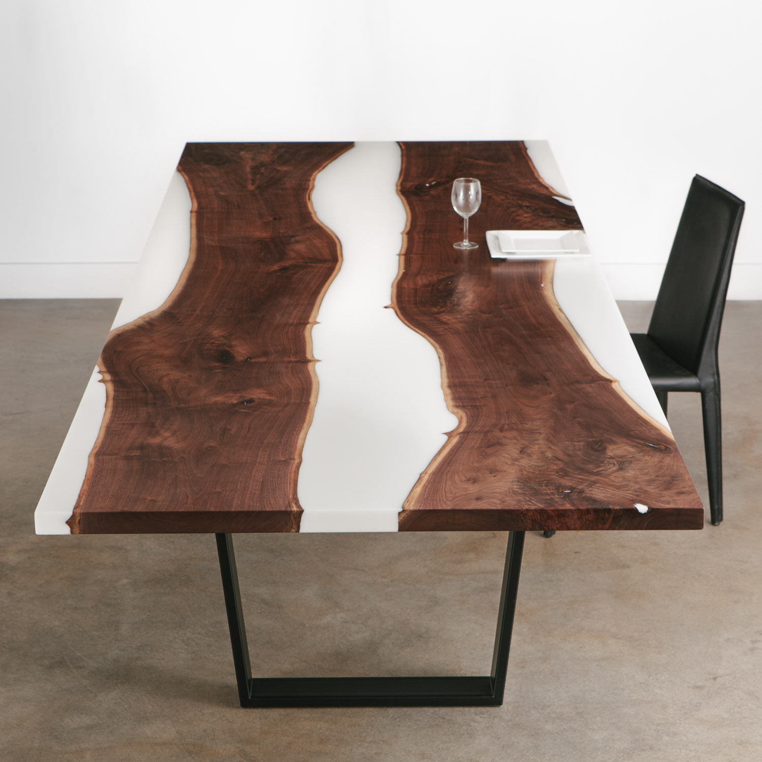 Walnut Dining Table No 281 Elko Hardwoods Modern Live Edge Furniture Dining Coffee Tables Desks Benches