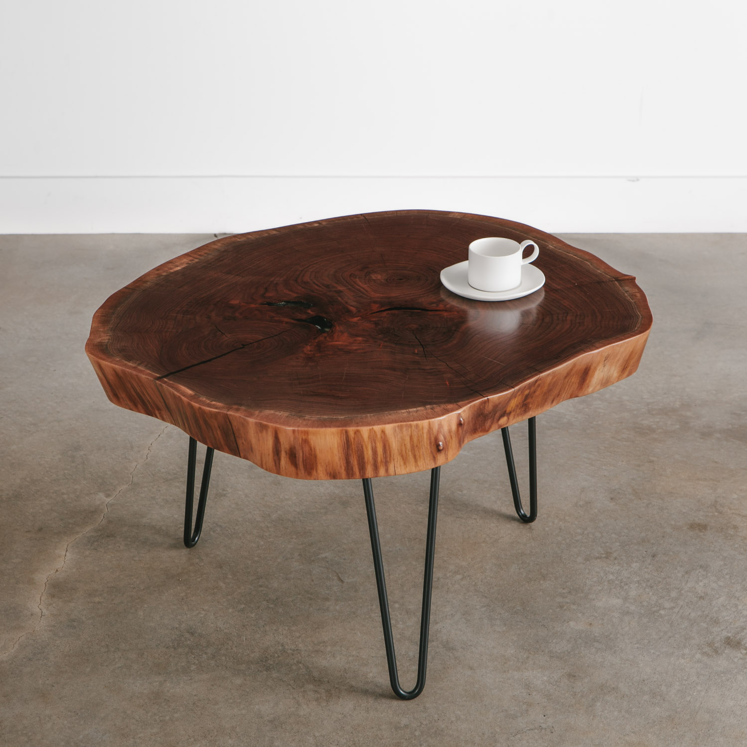Walnut Coffee Table No 239 Elko Hardwoods Modern Live Edge Furniture Dining Coffee Tables Desks Benches