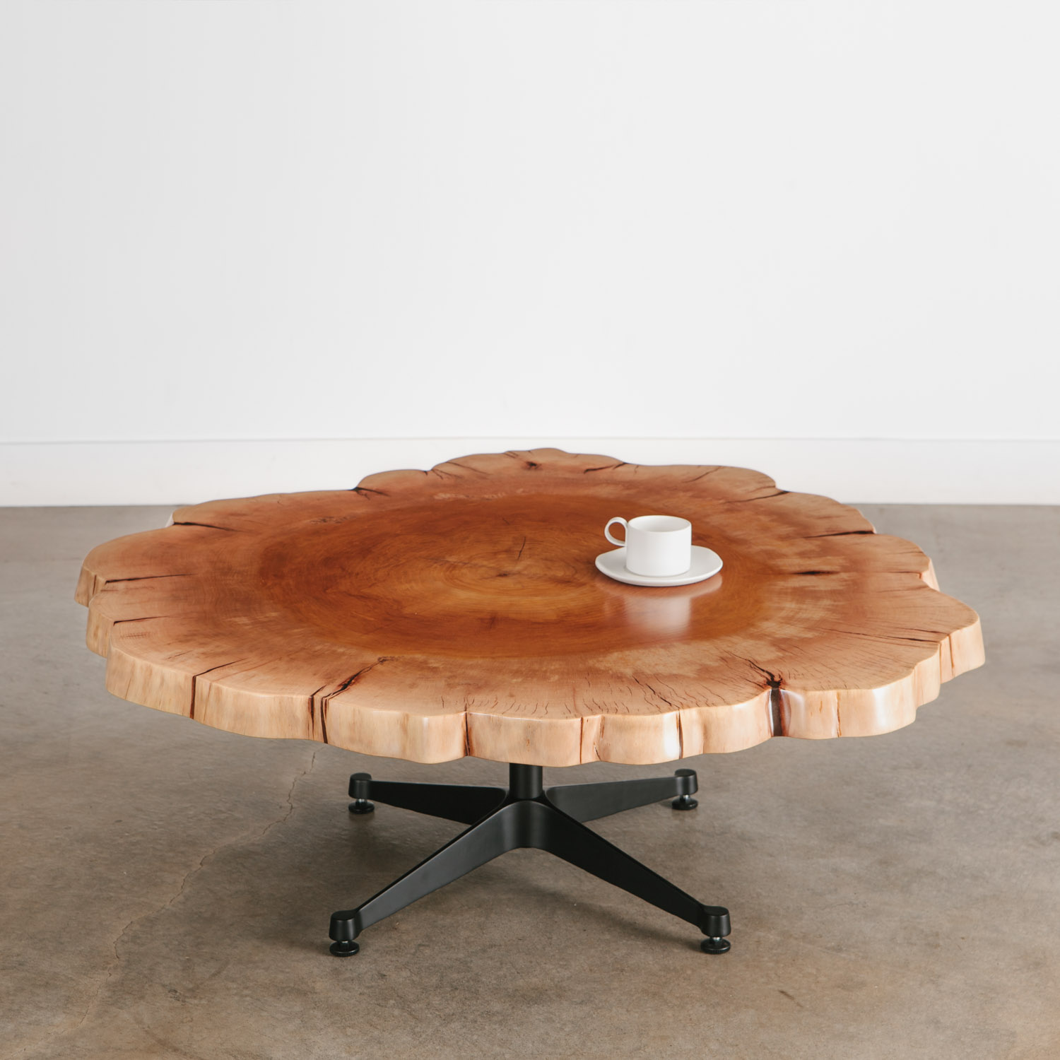Picture of: Sycamore Coffee Table No 240 Elko Hardwoods Modern Live Edge Furniture Dining Coffee Tables Desks Benches